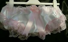 ❤PRETTY WHITE & PINK SATIN FRILLY PANTIES SISSY CD TV ❤