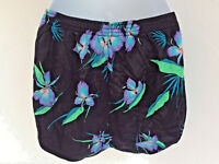 Dolphin Dolfin International Running Shorts Nylon Floral Unisex Small Hibiscus
