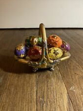 Fabergé The Franklin Mint (Tfm) Autumn Egg Basket with 9 Eggs Porcelain