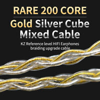 KZ B/C/MMCX Pin Plug 200 Cores Braided Earphone Cable ZSN/ZST/ZS10/AS10/ES3 Soft