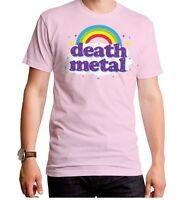 New Rainbow over Death Metal Light Pink Adult T-SHIRT S M L XL 2XL top