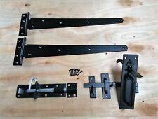 "Tee bisagra puerta de madera de 16"" pares Kit de montaje de jardín portón Suffolk Set 400MM"