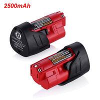 For Milwaukee 48-11-2401 M12 Li-Ion Lithium 12V 12 Volt 2500mAh Battery Pack
