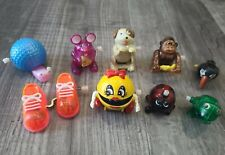 TOMY Wind Up Toys Lot of 9 Ms. Pac Man Orange Sneakers