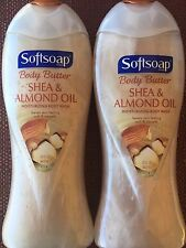 Softsoap Body Butter SHEA ALMOND OIL  Moisturizing Body Wash  Lot 2