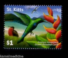 St. Kitts MNH, Green Throated Carib, Hummingbirds  Birds