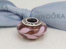 """Authentic Pandora Murano Glass Bead """"Purple Pink Swirly Swirl"""" 790677 - Retired"""
