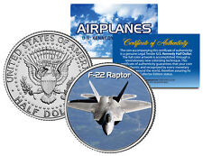 F-22 RAPTOR * Airplane Series * JFK Kennedy Half Dollar US Colorized Coin