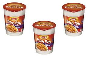 3X Mana Chama Instant Meal Cup Pasta in Tomato Sauce Kosher Osem Israel 62g