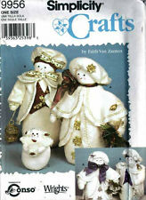 SNOW PEOPLE Snow Family CHRISTMAS Winter Doll PATTERNs GREAT GIFT