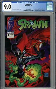 Spawn #1 CGC 9.0 VF/NM 1st Appearance of Spawn (Al Simmons) WHITE PAGES