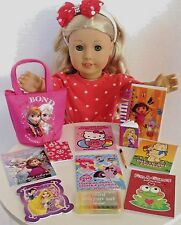 """Mini Coloring Books and Crayons for American Girl Doll 18"""" Accessories SET"""