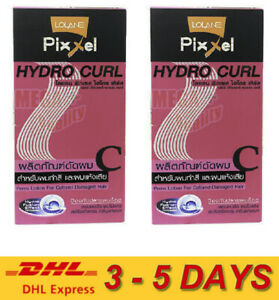 2 x Lolane Pixxel Hydro Curl Perm Lotion Colored Damaged Hair Good Smell 120ml.