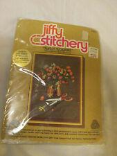 Jiffy Stitchery Sunlit Flowers Crewel Kit 1978 Retro Vintage Rienstra #375 New