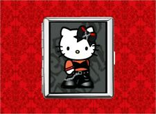 HELLO PUNK KITTY CAT EMO GOTH METAL WALLET CARD CIGARETTE ID IPOD CASE