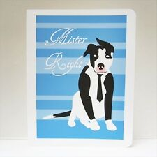 Pit Bull Mister Right Note Card (Blank Inside) -Free Shipping!