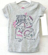 Carters Filles Pyjama T-Shirt Gris Taille 24 Mois Imprimé Dinosaure Neuf KD1215