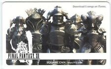 """FINAL FANTASY XII 12 iTunes CARD""SQUARE ENIX PROMO JAPAN NEW"