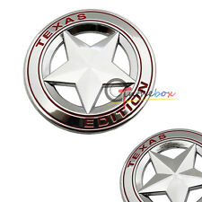 Silve Color Metal 3D Texas Edition Rear Emblem Badges Sticker For Ford Chevrolet