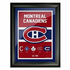 """Montreal Canadiens Team Tradition Composite Photo (Size: 14"""" x 18"""") Framed"""