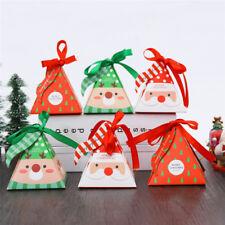 5/10pcs Christmas Candy Box Bag Christmas Tree Gift Box Paper Box Gift Bag New~