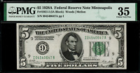 1928A $5 Federal Reserve Note Minneapolis - FR. 1951-I - Graded PMG 35