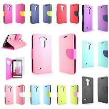 For LG G3 Vigor Tough Wallet Pouch Cover Protective Flip Case + Screen Protector
