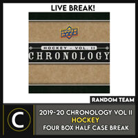 2019-20 UPPER DECK CHRONOLOGY HOCKEY 4 BOX HALF CASE BREAK #H980 - RANDOM TEAMS
