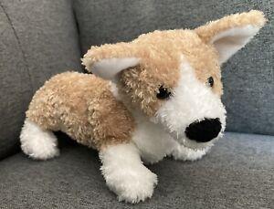 """New Douglas The Cuddle Tan & White Plush Stuffed CORGI Puppy Dog MUNCHEE 9"""""""