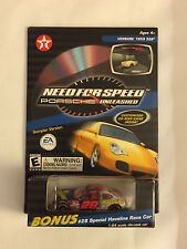 2000 Texaco NEED FOR SPEED HAVOLINE RACE CAR and CD-ROM Game - Mint on Card