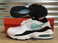 WMNS Nike Air Max 93 Shoes White Sport Blue Black Womens SZ ( 307167-100 )