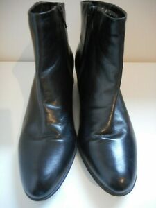 Clarks Freeflex Black Leather Ankle Boot sizes UK 5.5 EU 38 Aust. 7.5 immaculate