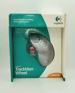 Logitech Wired TrackBall TRACKMAN WHEEL Optical Mouse (Silver)