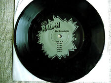 The Residents ‎– The Black Single Etichetta: Ralph Records ‎– RZ8422 F- 45 giri