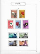 1965 MNH Indonesia selection according to  album page, postfris**
