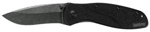 Kershaw Blur Liner Lock Knife Black Aluminum Blackwash Sandvik 1670BW