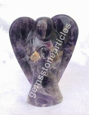 """5"""" Amethyst Real Stone Angle Precious Inlay Decorative Sculpture Home Décor G064"""