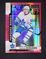 2017-18 OPC Platinum Red Prism Marquee Rookies #183 Andreas Borgman /199