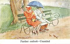 POSTCARD   COMIC   Further outlook - Unsettled          Bert  Thomas     Tuck