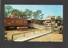 "POSTCARD:  THE ""A"" TRAIN RESTAURANT - KISSIMMEE, FL - CABOOSE & RAILROAD DEPOT"