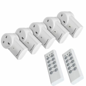 Remote Control Sockets Wireless UK Mains Plug Smart Socket 30M Range With Remote