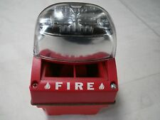 RED FIRE ALARM WITH STROBE LITE. MOUNTS ON WALL OR CEILING. HAS TO BE HARD WIRED
