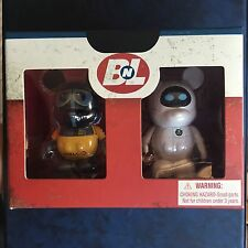 "Vinylmation Wall-E and Eve set Limited Edition 500 Disney 3"" combo LE NIB Walle"