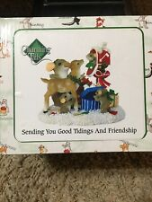 Fitz Floyd Charming Tails Sending You Good Tidings And Friendship Mouse Gift