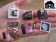 Set 6 Vinile Record miniature. Zucchero Forniaciari. MAE Mini World 1:12 Scala