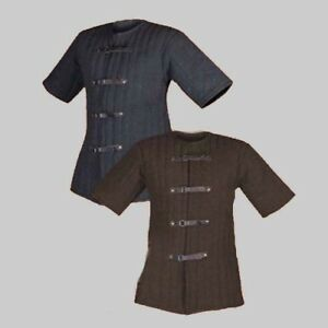 Black New Medieval Gambeson Thick Padded Jacket COSTUMES DRESS
