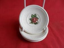 Wedgwood, Moss Rose, 4 x Butter Pats or small dishes