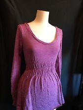 METALICUS  Purple/Pink WOOL Top Long Sleeves ONE SIZE