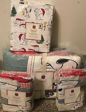 Pottery Barn Kids Peanuts Holiday Full quilt shams sheets Snoopy teen