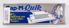 """CAP-M-QUIK Capsule Filler Kit SIZE """"0""""  (Capsule Filling Machine WITH tamper)"""